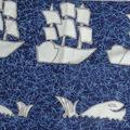 tissu bateaux baleines