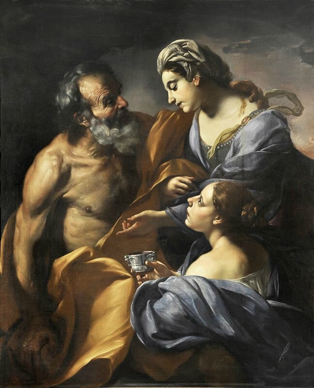 Giacinto Brandi, Lot and his daughters, 1684-85, Ariccia, Palazzo Chigi - Lemme Collection