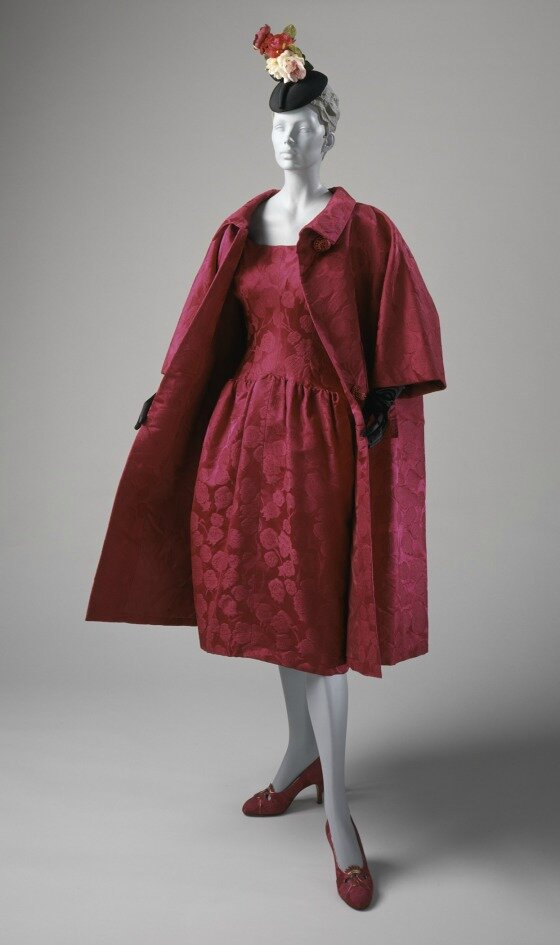 Cristóbal Balenciaga, Woman's Cocktail Dress and Coat, circa 1955