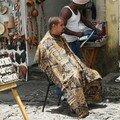 Séance de coiffure