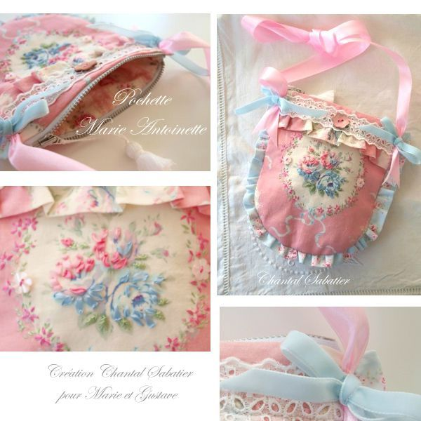 pochette romantique marie antoinette creation chantal Sabatier