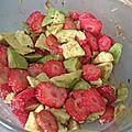 Salade avocat /fraise