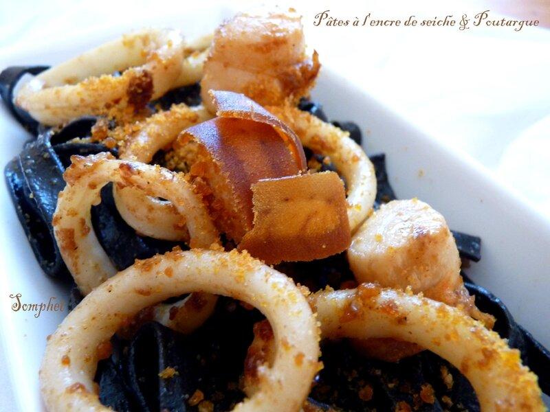 Pâtes à l encre de seiche et poutargue (2)