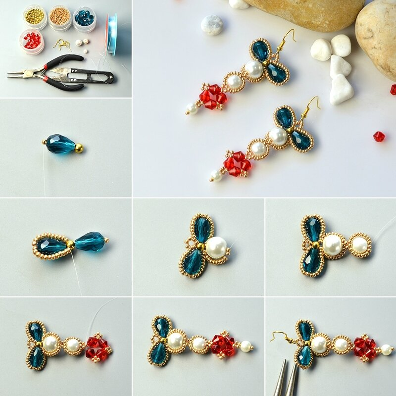 1080-Dedicate-DIY-Project-on-Making-Vintage–style-Seed-Bead-Pendant-Earrings