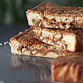 Blondies au caramel et aux noix (de cajou, de pécan, d'arachide...)