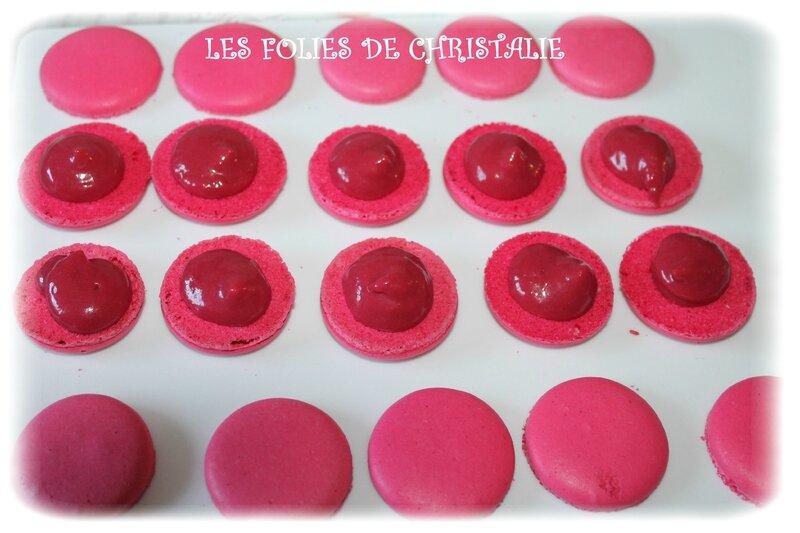 Macarons framboises 2
