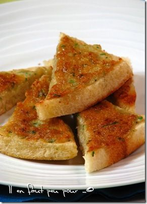 toasts porc crevette