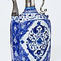 Ewer, iznik, turkey, ca. 1520-1525