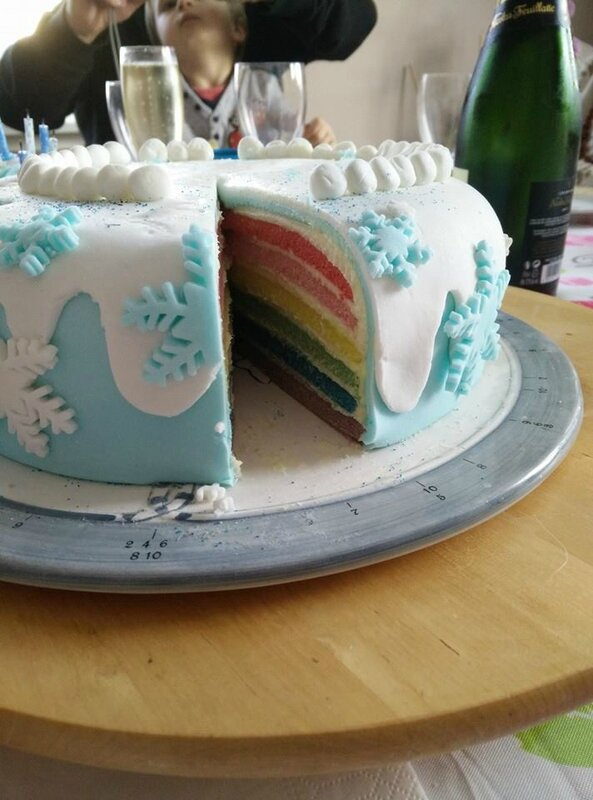 rainbow cake quot reine des neiges quot just my cooking mes p tites recettes