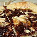 Pizza chocolat caramel amandes