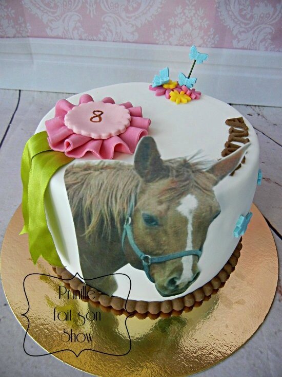 gateau cheval prunillefee