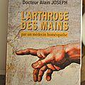Arthrose des mains (livre du dr jo)