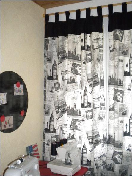 rideaux, salle de couture!