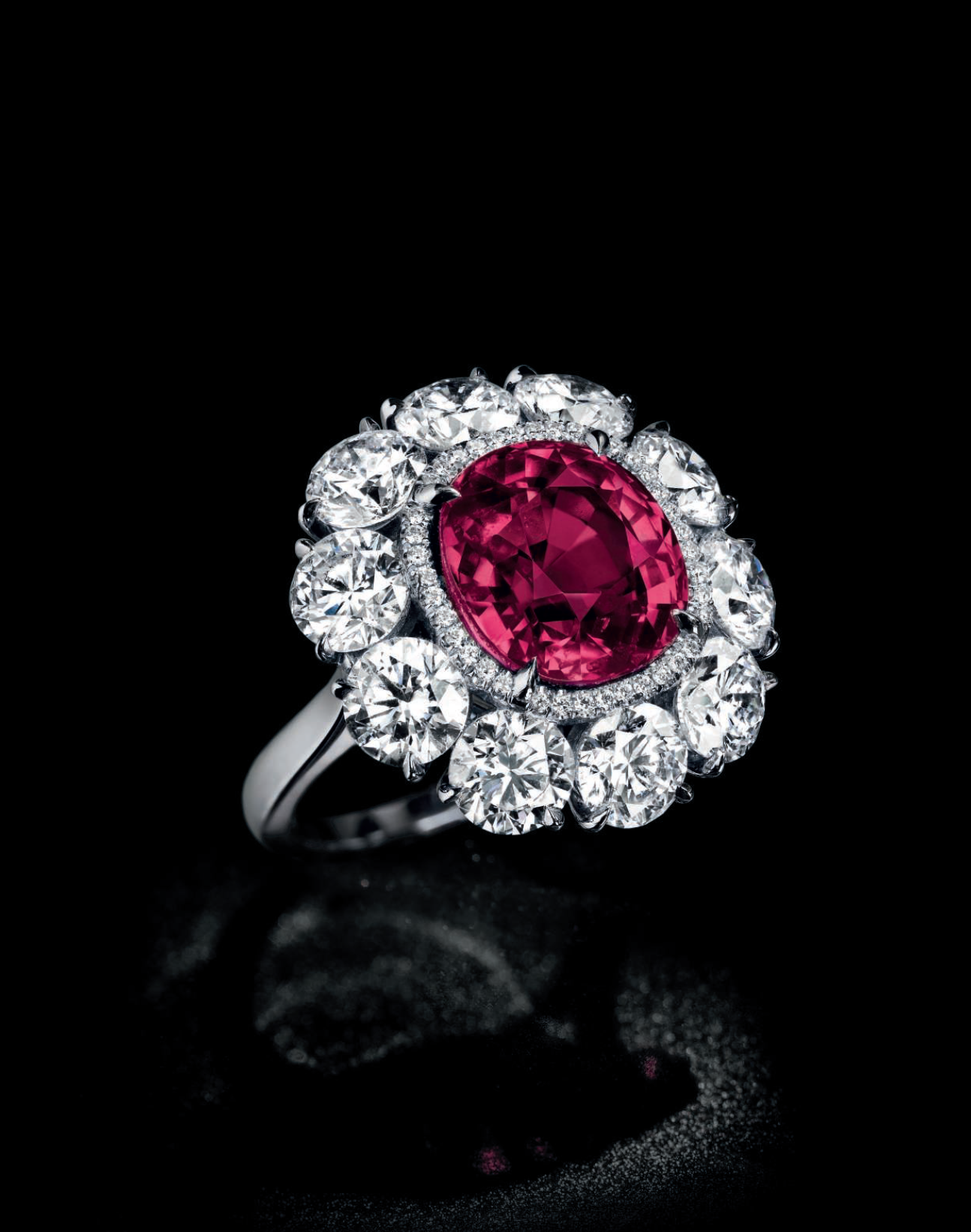 An exceptional ruby and diamond ring
