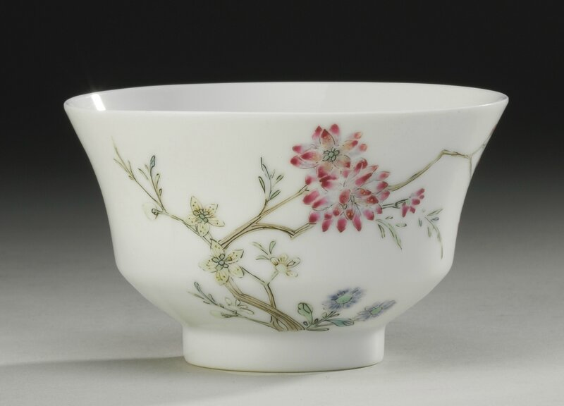 A Famille-Rose 'Flower And Butterfly' Bowl