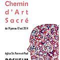 Exposition personnelle, eglise romane de rosheim, juin- octobre 2014