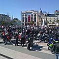 Manifestation motards pau - les motards en colère place clémenceau