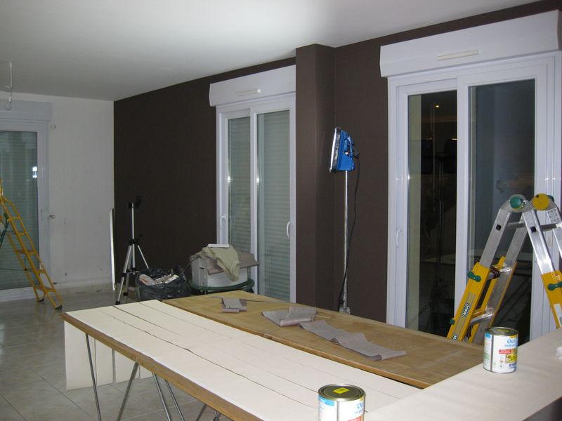 34 mur marron fini - Salon Mur Marron