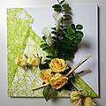 Composition florale sur toile