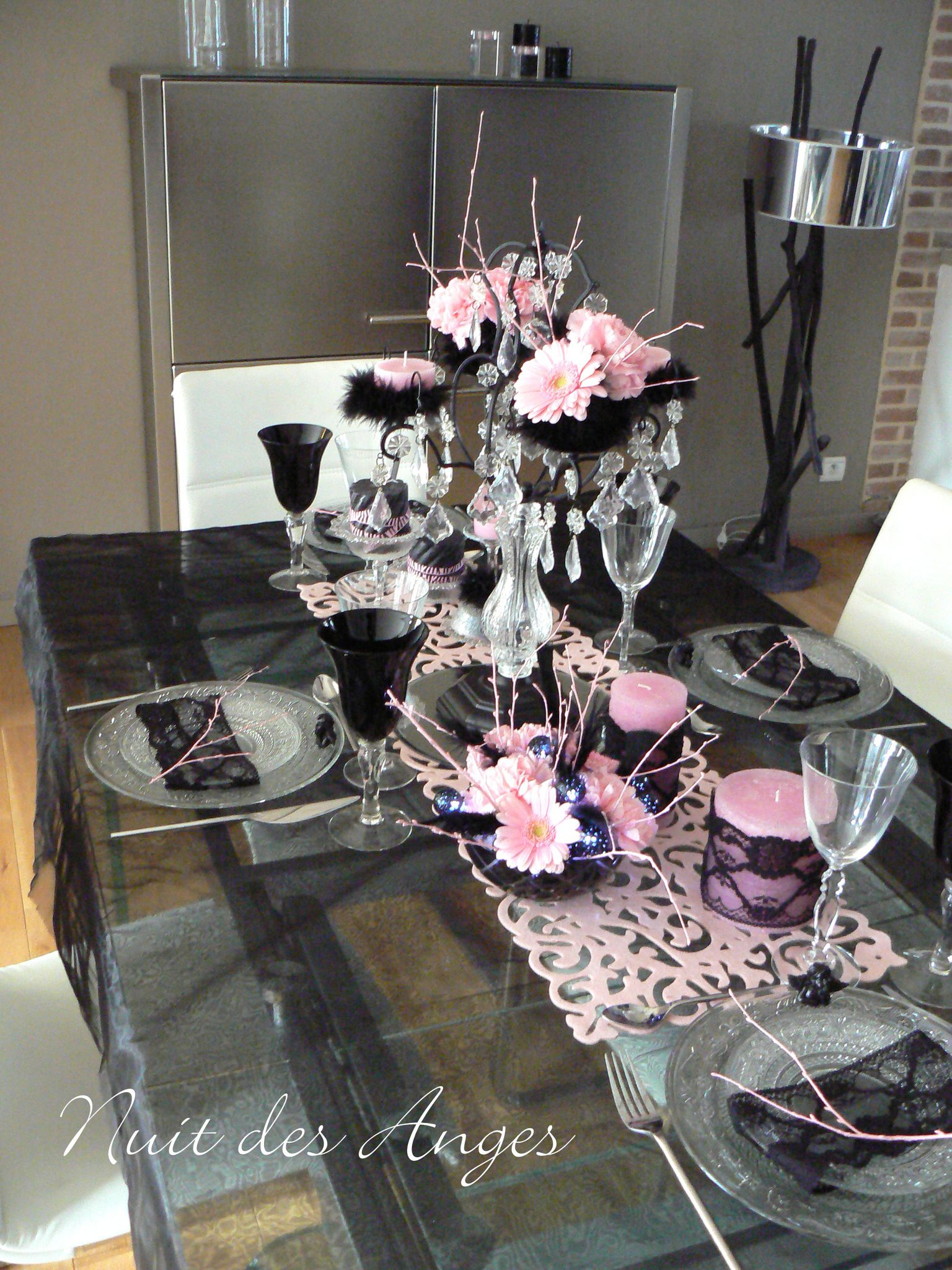 Nuit des anges d coratrice de mariage d coration de table for Decoration or rose
