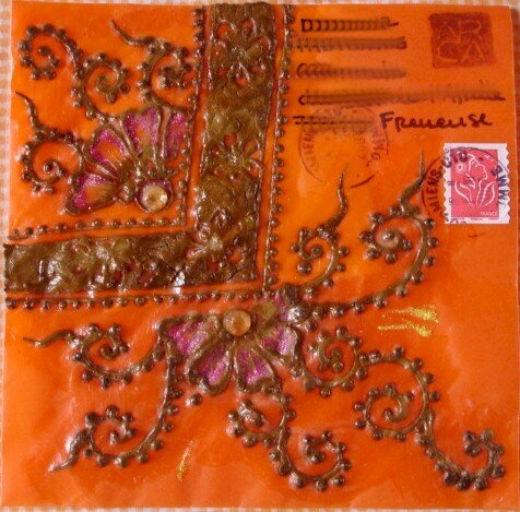 Arca enveloppe au henné