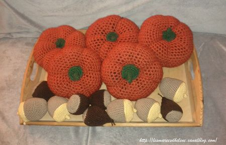Citrouilles Chataignes Glands crochet