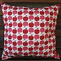 coussin Bisous pomme