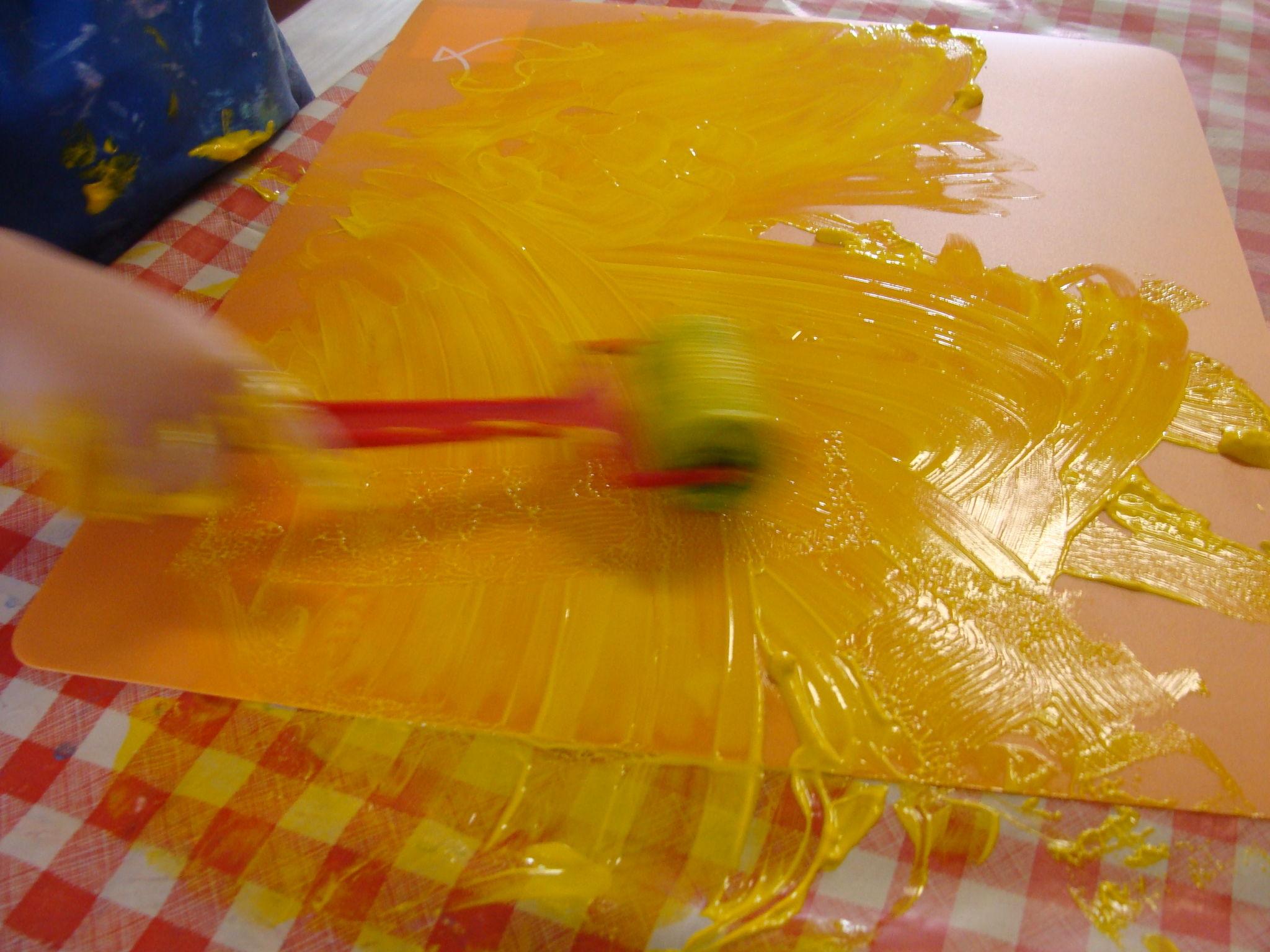 Impression ribambelles for Peinture pour table plastique