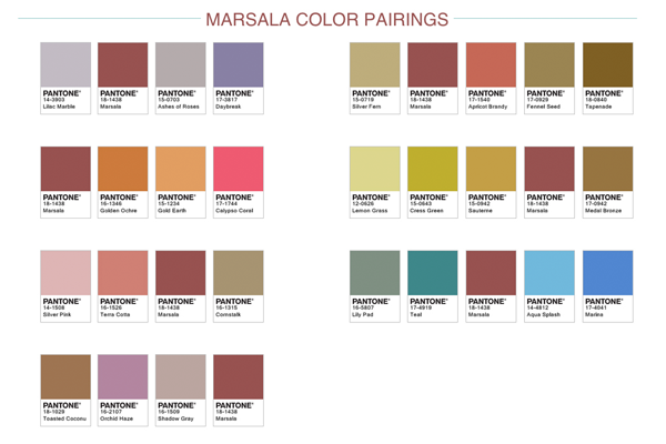 2015 sera marsala ou ne sera pas le blog de - Associations de couleurs ...