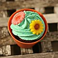 Cupcake faon pot de fleur (flowerpot cupcake)
