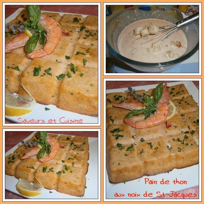 Pain de thon aux noix de Saint-Jacques, une entrée froide exquise !