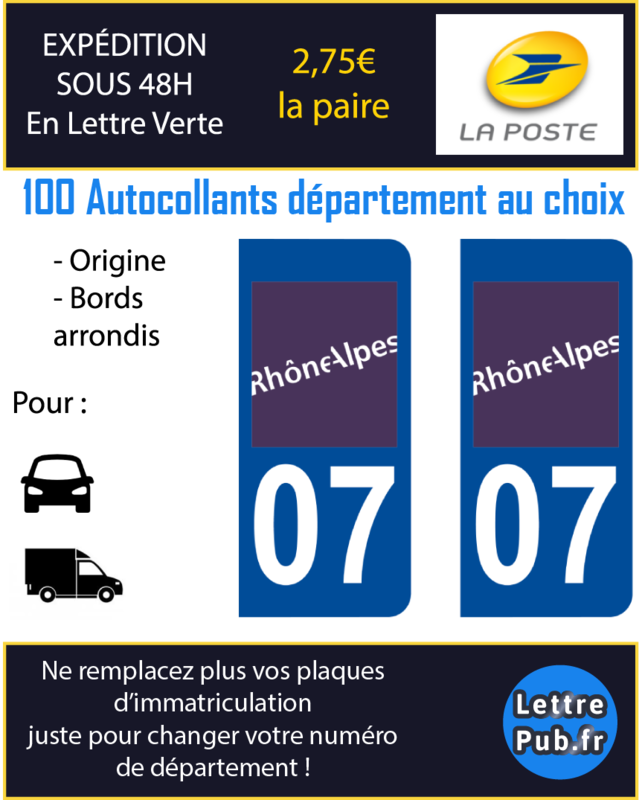 autocollant d partement plaque immatriculation legal lettre coller sur tous supports
