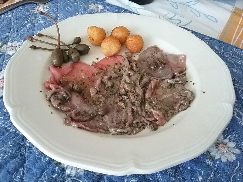 Froissée de boeuf cru à la piémontaise - Carne all'albese