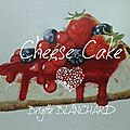 Cheese cake a l'aquarelle