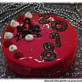 Gâteau du nouvel-an nougat-framboises