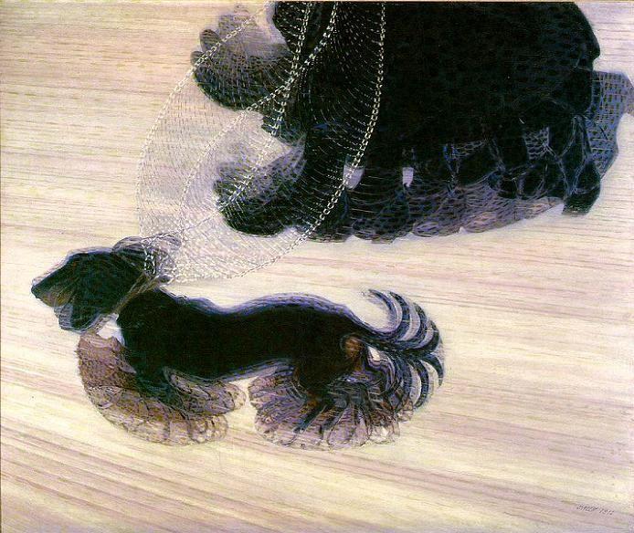 41. Giacomo BALLA, Dog on a leash, 1912.