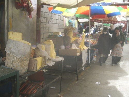 Vente de beurre de yak, Lhassa
