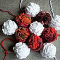 Pompons en froufrou chenille #pvb067