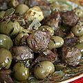 Gsiers de volailles aux olives (recette juive)