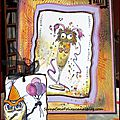 A funny birthday card for take it, make it challenge 6 + sprinkle of colour challenge / une carte d'anniversaire humouristique !