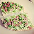 Tartines ppp (petits pois / pancetta)