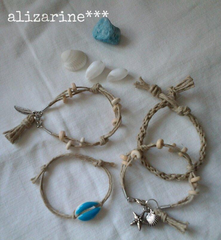 bracelets esprit bord de mer