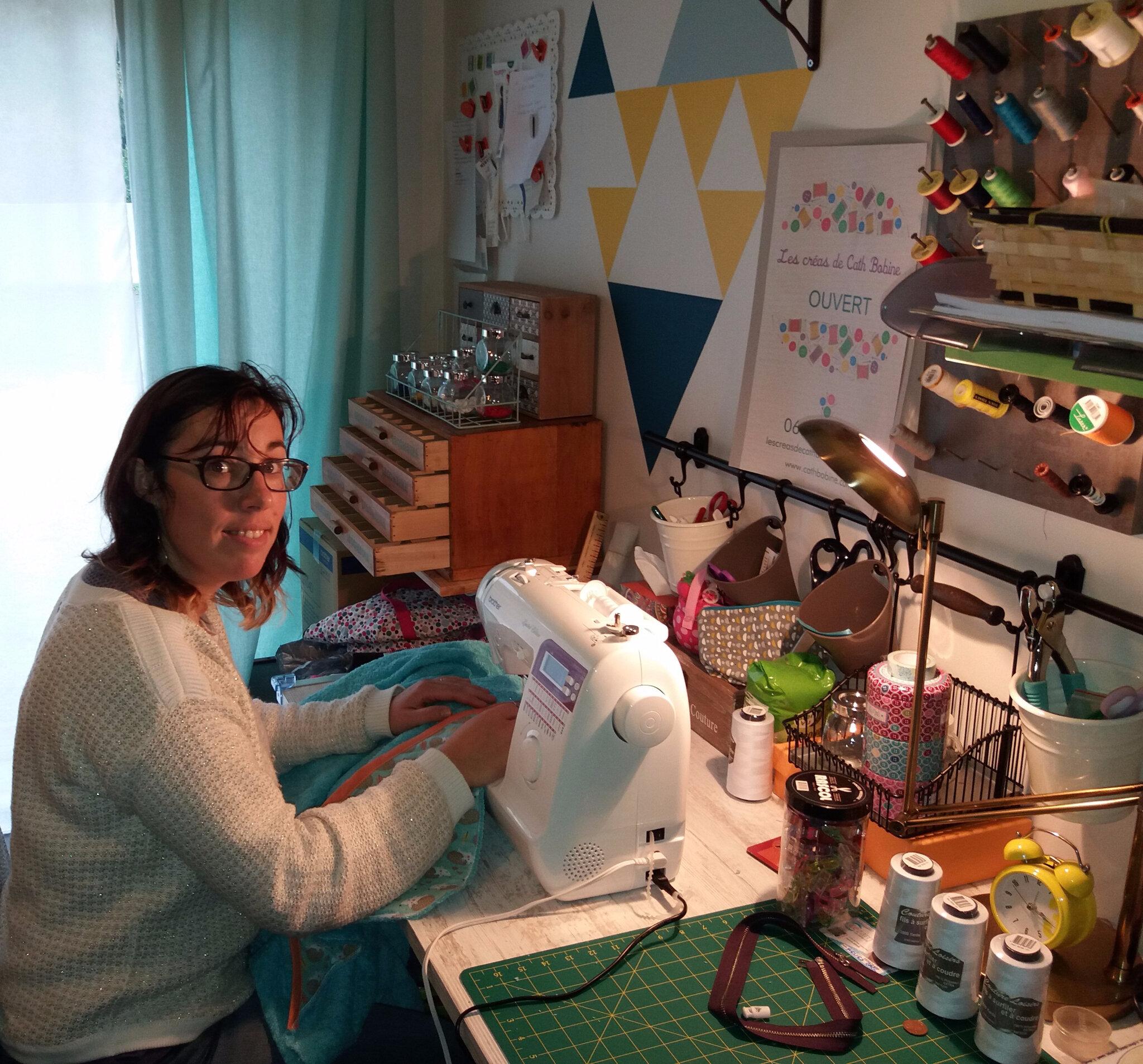 """Ouverture de l'atelier de couture """"Cath Bobine"""" sur Landévant"""