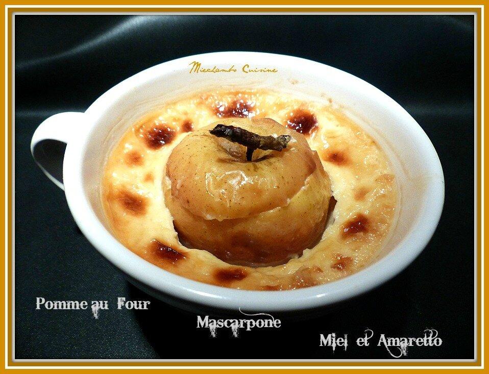 Pommes au four au Mascarpone Miel et Amaretto