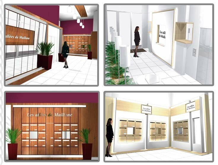 Am nagement de hall d 39 entree d 39 immeuble photo de interieur book 3d - Amenagement aanplakbiljet d entree ...