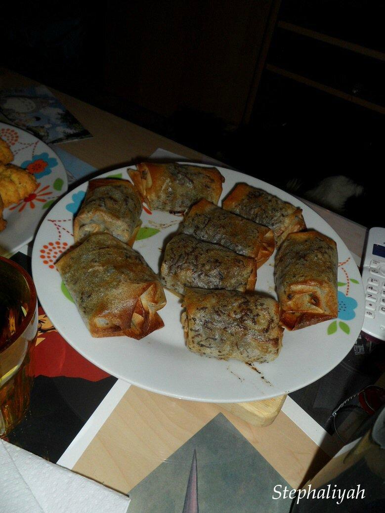 Briouates à la viande hachée -- 29 novembre 2014