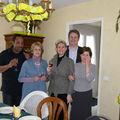 Chez Clau. avec ma soeur Sandrine et Giles