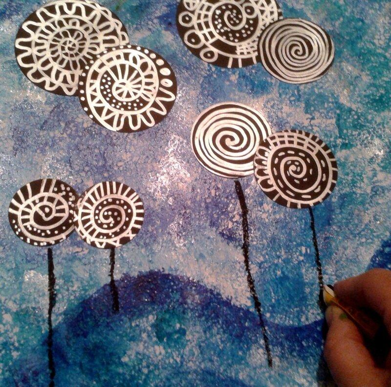 147_Arbres_ Lollipop trees à la manière de Hundertwasser (35)