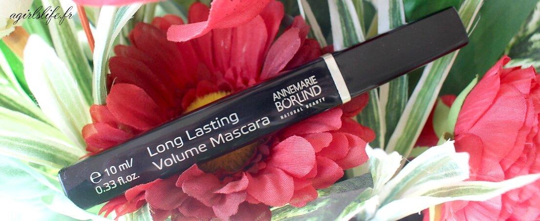 Mon nouveau mascara Bio : Anne Marie Borlind .