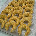 Tcharek el ariane - Croissants aux amandes